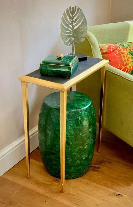 Lamp Table in Seal Brown Shagreen by Forwood Design 8