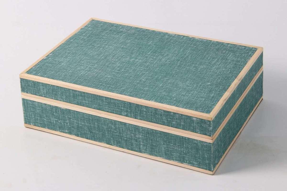 Ansley Jewellery Box Teal Linen 4