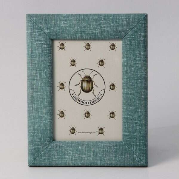 Linen Photo Frame in Teal 1
