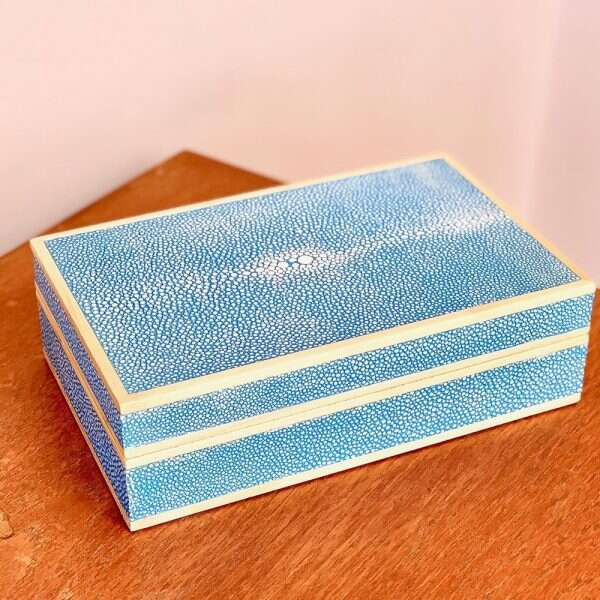 Bridge Set in Sky Blue Shagreen by Forwood Design 2