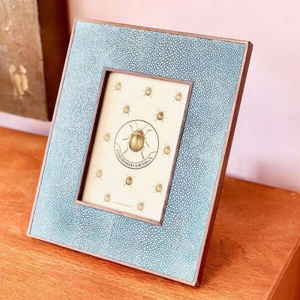 Classic Photo Frame in Duke Blue Shagreen by Forwood Design 3