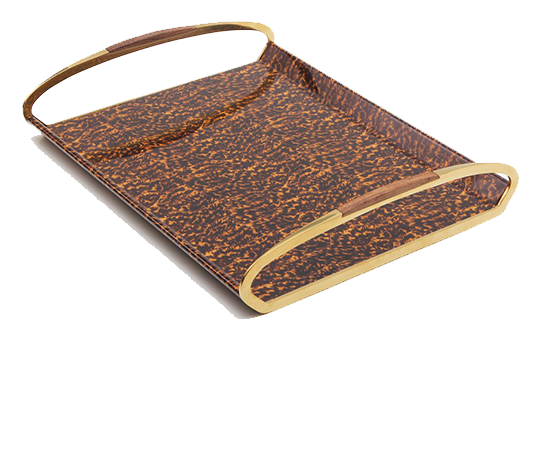 Jules Drinks & Serving Tray in Tortoiseshell by Forwood Design 1