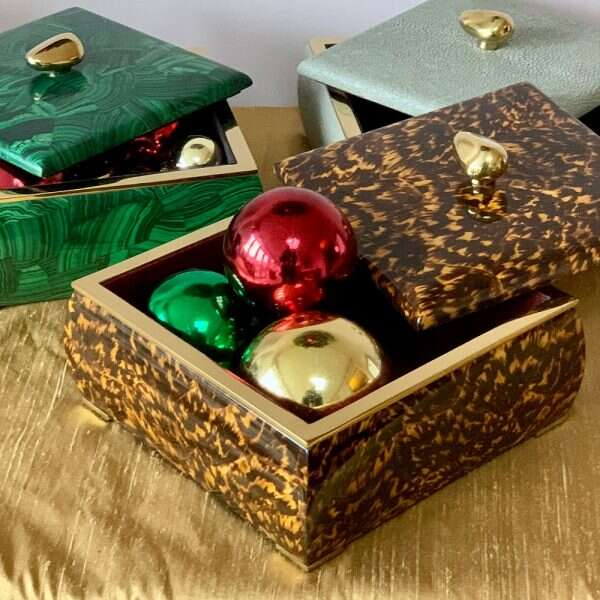 Trinket box in faux tortoiseshell