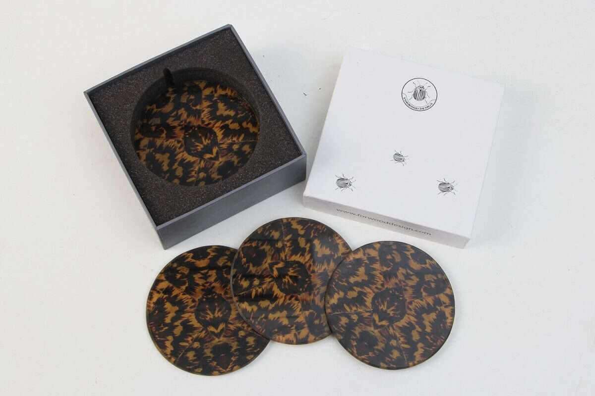 Coasters made from tortoiseshell pattern
