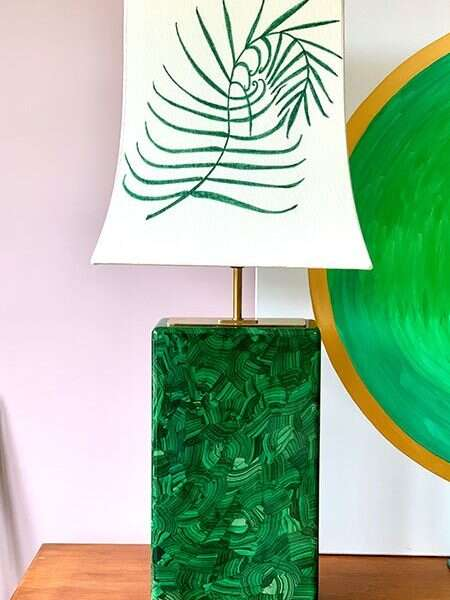 Kitty Arden's 'Palm Leaf' Silk Empire Lamp shade 2