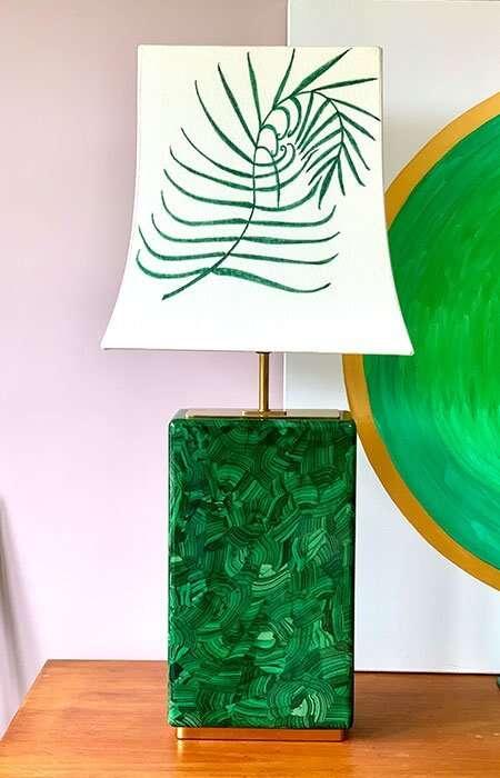 Kitty Arden's 'Palm Leaf' Silk Empire Lamp shade 2