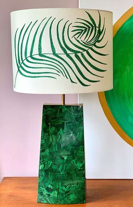 Kitty Arden's 'Palm Leaf' Silk Lamp Shade 1