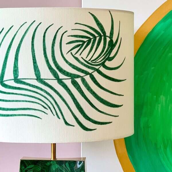 Kitty Arden's 'Palm Leaf' Silk Lamp Shade 2