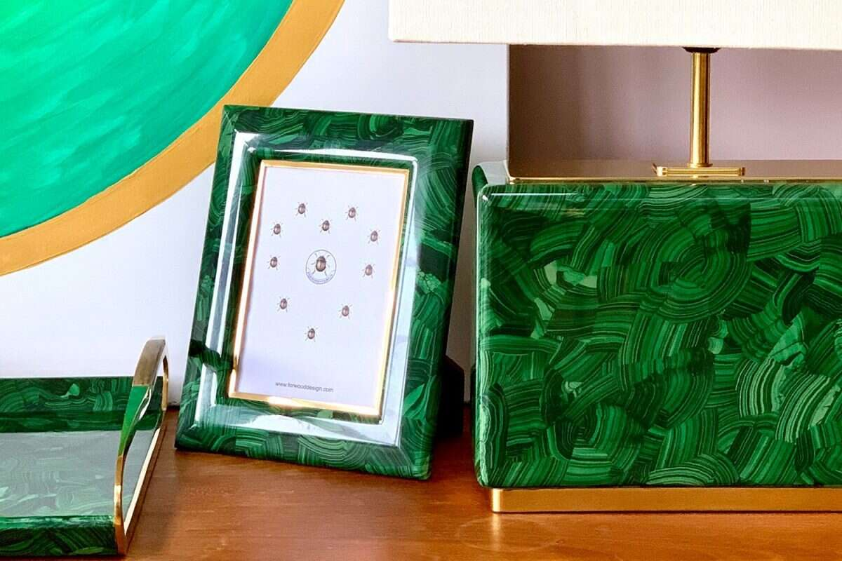 Malachite Photo Frames by Forwood Design 1