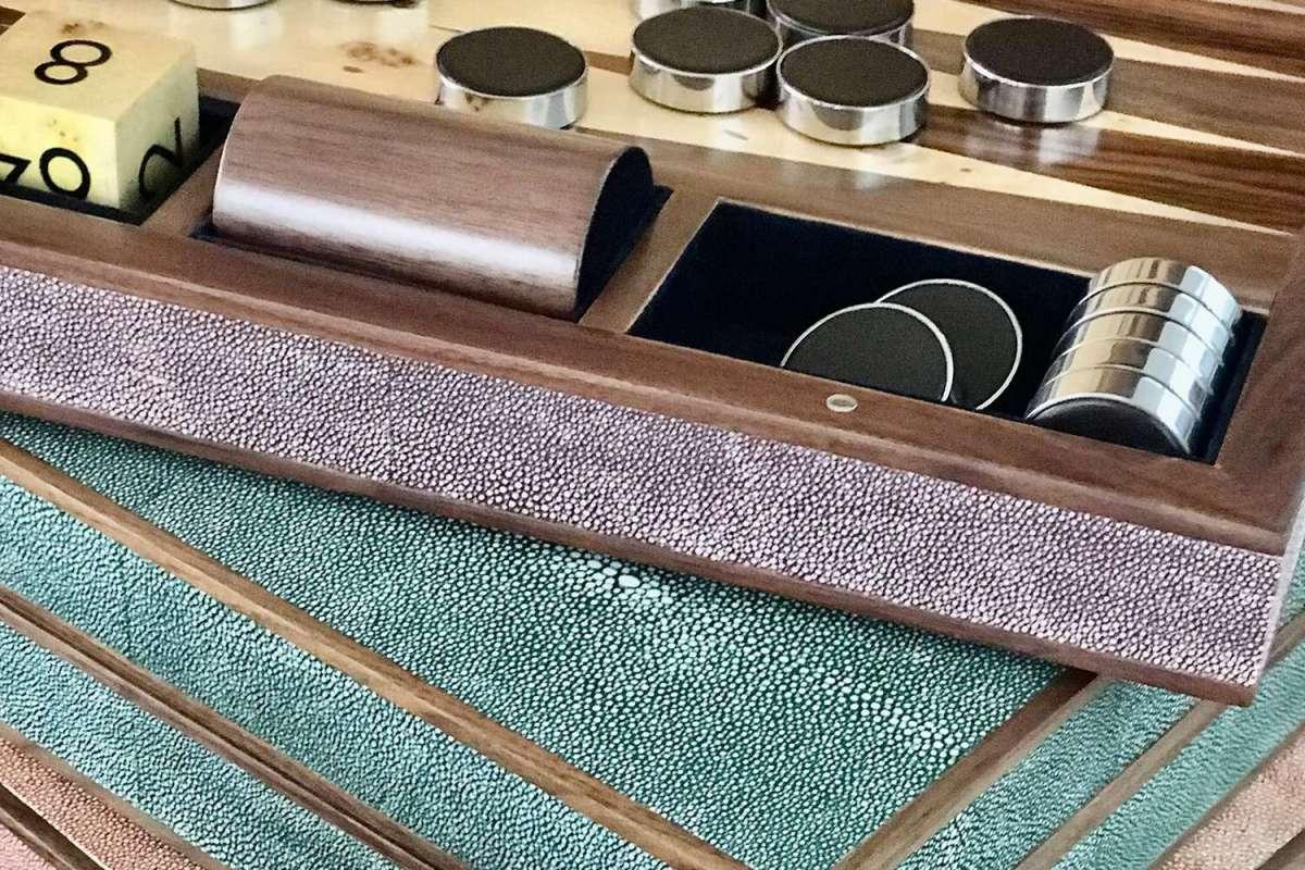 Backgammon Board in Mulberry