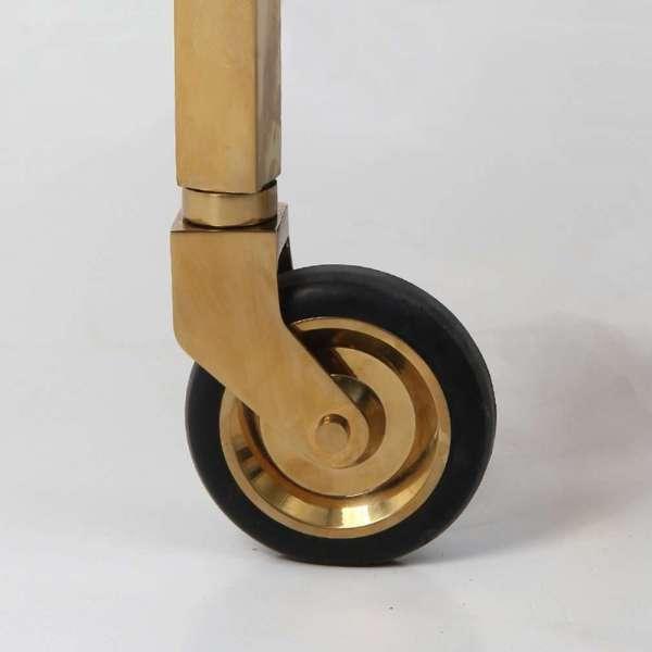 Forwood Design Cliveden Seal Brown Shagreen Trolley 1