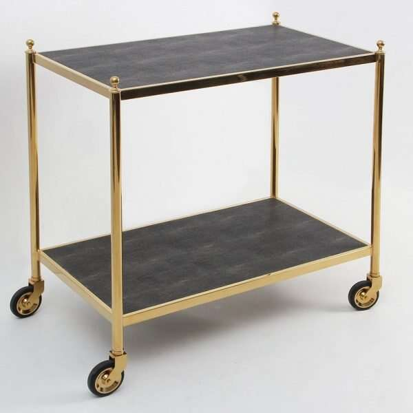 Forwood Design Cliveden Seal Brown Shagreen Trolley 4