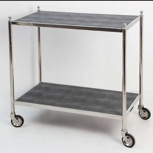 Cliveden Charcoal Shagreen Trolley Forwood Design3