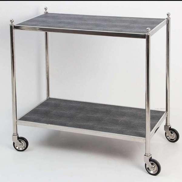 Cliveden Charcoal Shagreen Trolley Forwood Design3