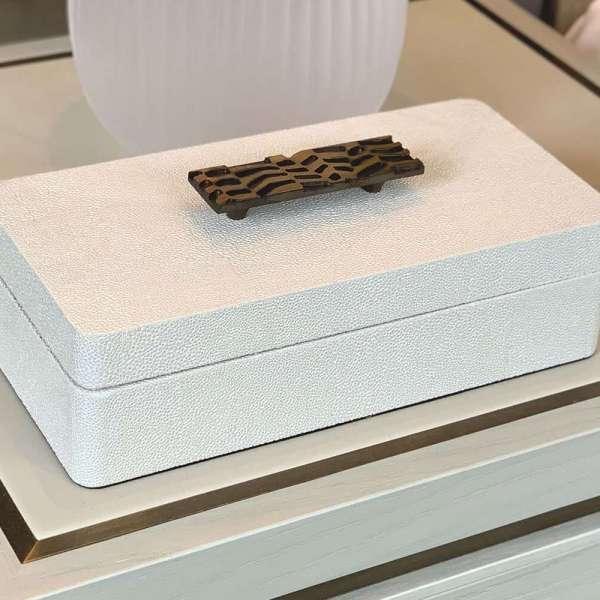 Rachael Winham's Linen White shagreen treasure box 7