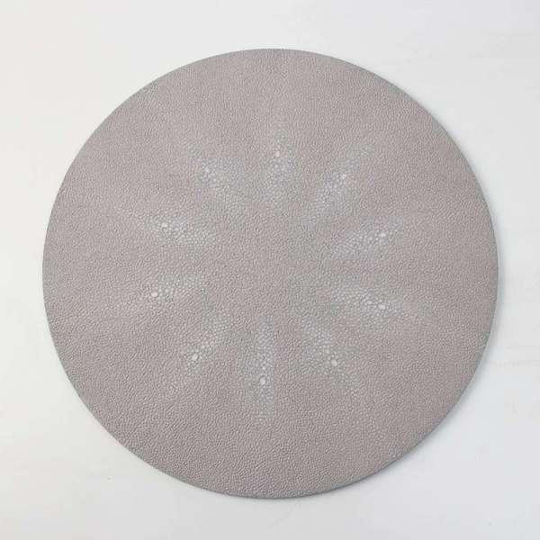 Rachel Winham's Linen White Shagreen Place mats 1