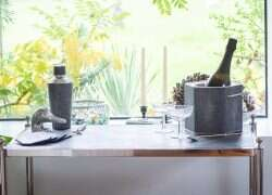 The Cliveden Drinks Trolley Charcoal Shagreen2