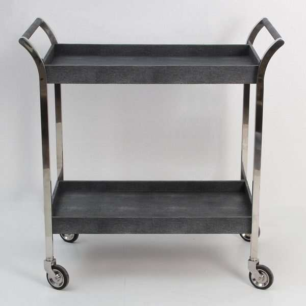 Woodstock Charcoal Shagreen Trolley Forwood Design 2