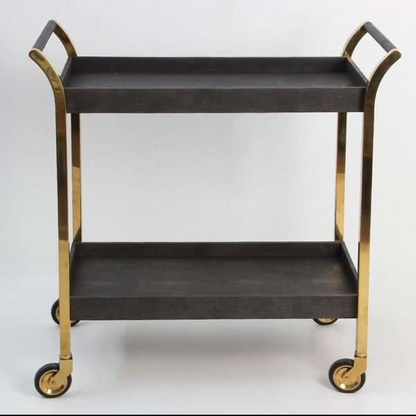 Forwood Design Woodstock Seal Brown Shagreen Trolley 1