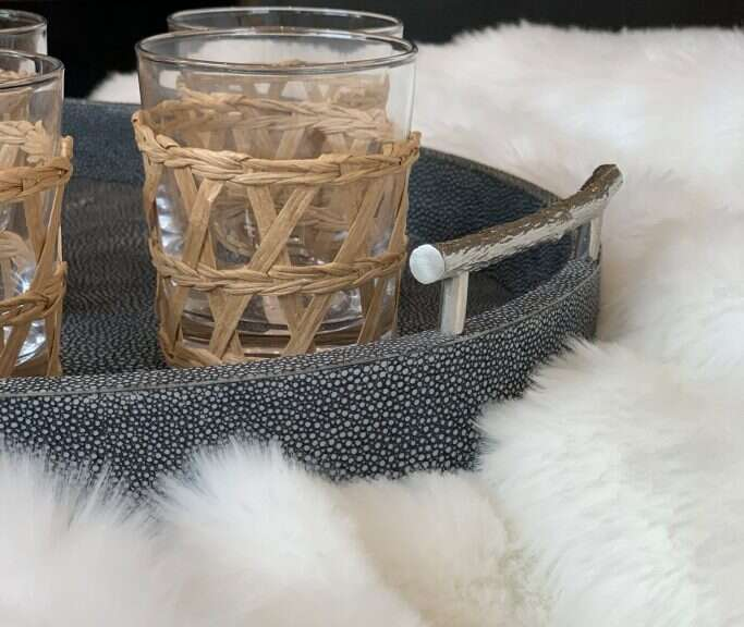Classic-Oval-Serving-Tray-in-Shagreen