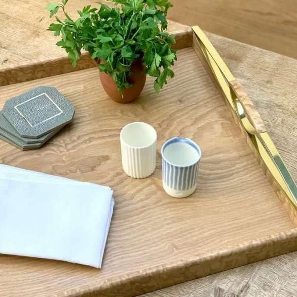 Luxury Tamo ash drinks tray - Stylish drinks coasters